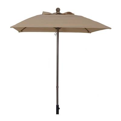 5 1/2 Ft. Square Commercial Aluminum Market Umbrella, Fiberglass Ribs - Push or Crank Up Style without Tilt
