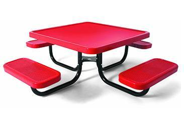 "36"" Square Preschool Picnic Table, Solid Top - Portable"