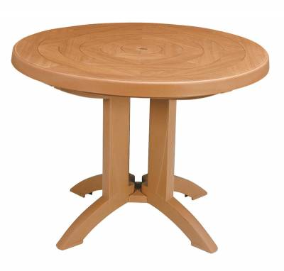 "48"" Round Aquaba Resin Table - Teakwood Decor"