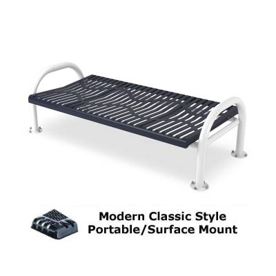 4' and 6' Modern Classic Backless Bench - Portable/Surface and Inground Mount