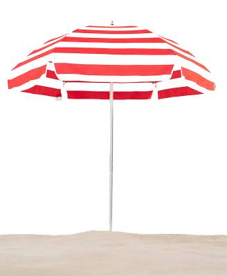Emerald Coast 6 1/2 Ft. Flat Top Umbrella, Steel Ribs - Push Up Style without Tilt