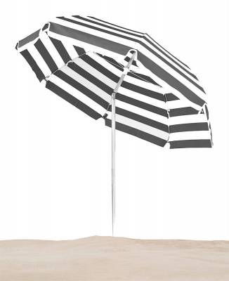 Emerald Coast 7 1/2 Ft. Flat Top Umbrella, Steel Ribs - Push Up Style with Tilt