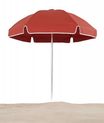 Avalon 6 1/2 Ft. Flat Top Umbrella, Fiberglass Ribs - Push Up Style with Tilt
