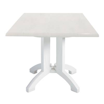 "36"" Square Atlanta White Table"