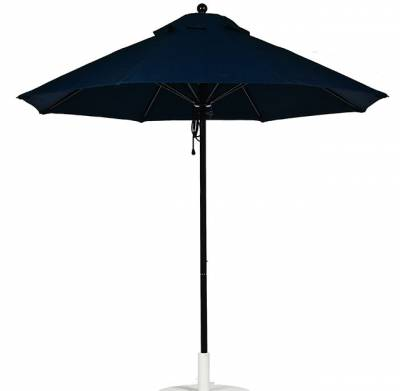 Umbrellas & Bases - Quick Ship Umbrellas - 9 Ft. Monterey Aluminum Market Umbrella, Fiberglass Ribs - Pulley Lift