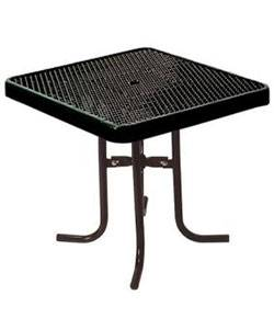 "Picnic Tables - Patio Tables and Seating - 36"" Square and Round Food Court Table"