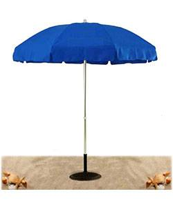 Umbrellas & Bases - Commercial Outdoor Umbrellas - 7 1/2 Ft. Flat Top Umbrella, Steel Ribs - Push Up Style without Tilt.