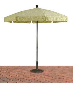 Umbrellas & Bases - 7 1/2 Ft. Commercial Standard Aluminum Umbrella, Fiberglass Ribs - Push Up or Crank Up Style without Tilt