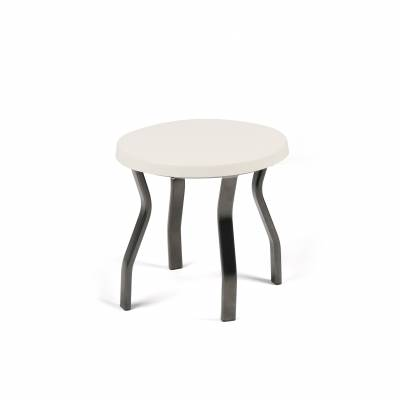 """Poolside Furniture - Patio Sling Furniture - 18"""", 20"""" and 24"""" Round Stacking Fiberglass Top Side Table"""