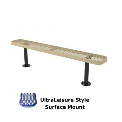 6' and 8' UltraLeisure Backless Bench - Portable, Surface and Inground Mount - Image 3