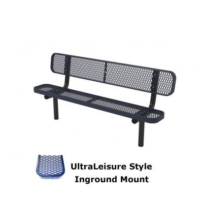6' and 8' UltraLeisure Bench - Portable, Surface and Inground Mount - Image 2