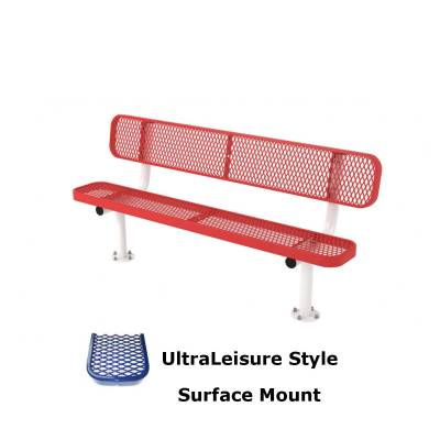 6' and 8' UltraLeisure Bench - Portable, Surface and Inground Mount - Image 3