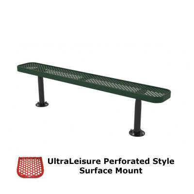6' and 8' UltraLeisure Perforated Backless Bench - Portable, Surface and Inground Mount - Image 3
