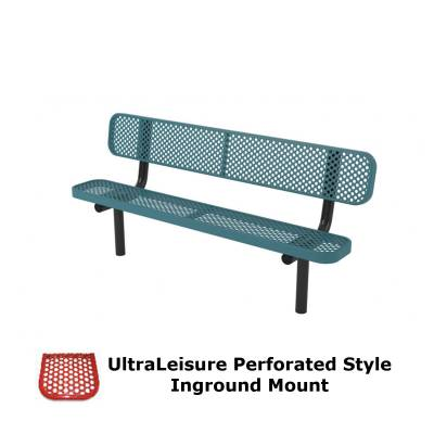 6' and 8' UltraLeisure Perforated Bench - Portable, Surface and Inground Mount - Image 2