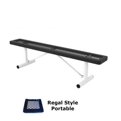 6' and 8' Regal Backless Bench - Portable, Surface and Inground Mount - Image 1