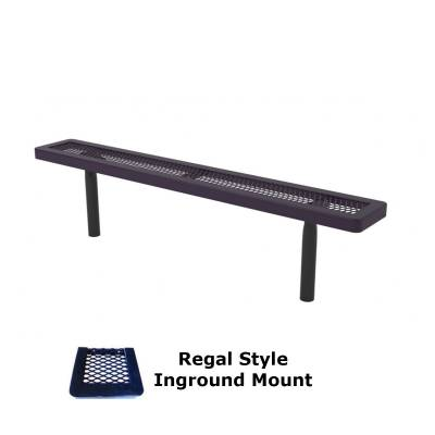6' and 8' Regal Backless Bench - Portable, Surface and Inground Mount - Image 2