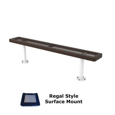 6' and 8' Regal Backless Bench - Portable, Surface and Inground Mount - Image 3