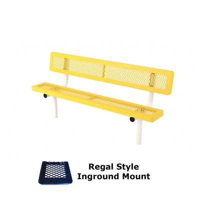 6' and 8' Regal Bench - Portable, Surface and Inground Mount - Image 2