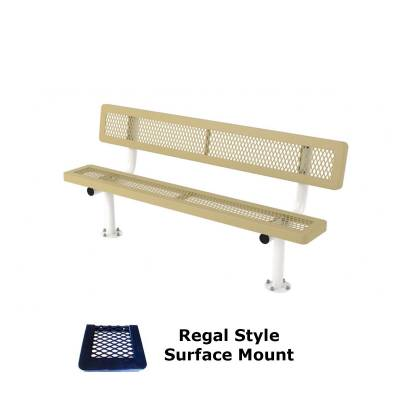 6' and 8' Regal Bench - Portable, Surface and Inground Mount - Image 3