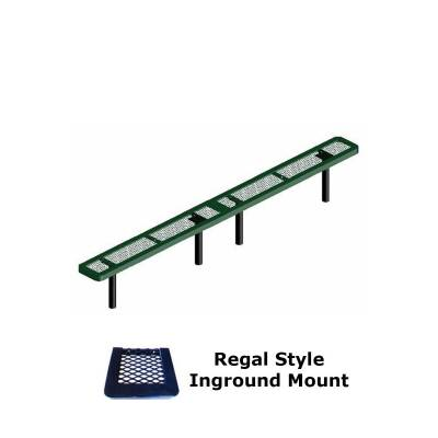10' and 15' Regal Backless Bench - Portable, Surface and Inground Mount - Image 2