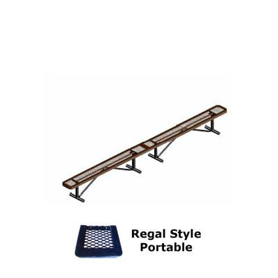 10' and 15' Regal Backless Bench - Portable, Surface and Inground Mount - Image 4