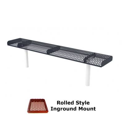 6' and 8' Rolled Backless Bench - Portable, Surface and Inground Mount - Image 2