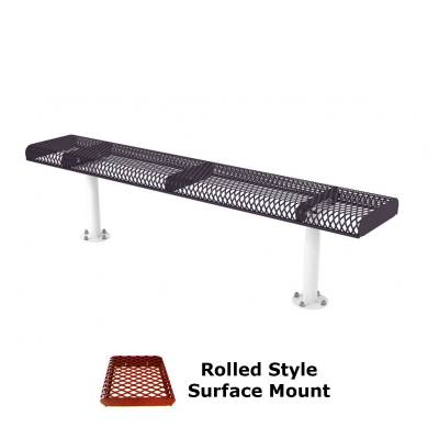 6' and 8' Rolled Backless Bench - Portable, Surface and Inground Mount - Image 3