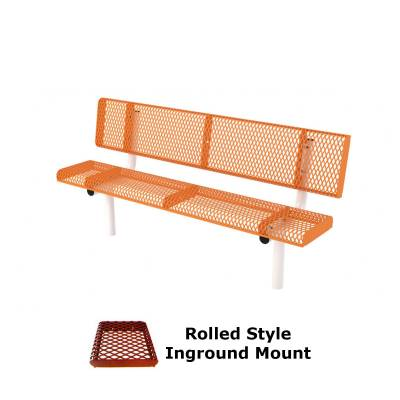 6' and 8' Rolled Style Bench - Portable, Surface and Inground Mount - Image 2