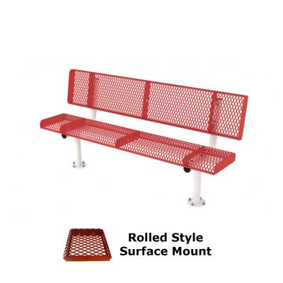 6' and 8' Rolled Style Bench - Portable, Surface and Inground Mount - Image 3