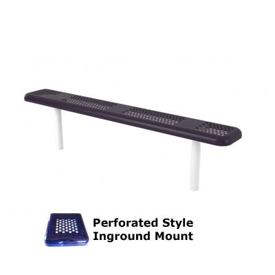6' and 8' Perforated Backless Bench - Portable, Surface and Inground Mount - Image 2