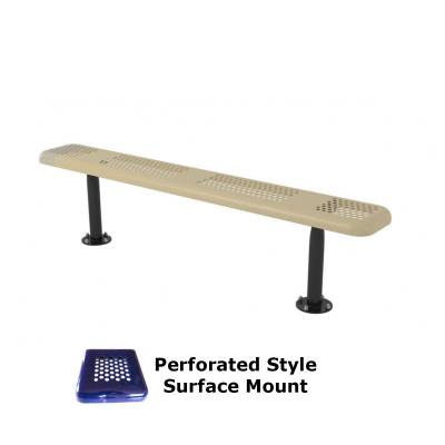 6' and 8' Perforated Backless Bench - Portable, Surface and Inground Mount - Image 3