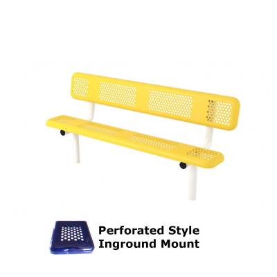 6' and 8' Perforated Style Bench - Portable, Surface and Inground Mount - Image 2