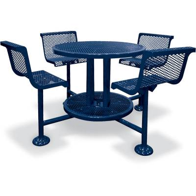 """Picnic Tables - 46"""" Round Ultra Bar Height Table - Surface and Inground Mount"""