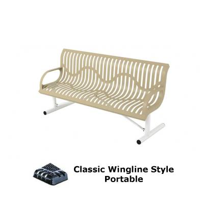 4' and 6' Classic Wingline Bench - Portable, Surface and Inground Mount - Image 2