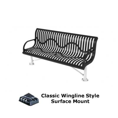 4' and 6' Classic Wingline Bench - Portable, Surface and Inground Mount - Image 3