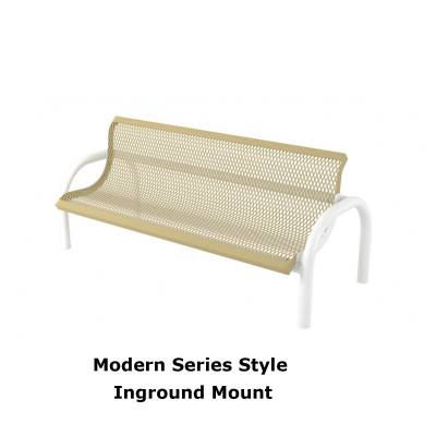 4' and 6' Modern Contoured Bench - Portable/Surface and Inground Mount - Image 2