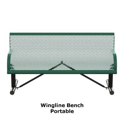 4' and 6' Wingline Style Bench - Portable, Surface and Inground Mount - Image 2