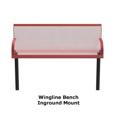 4' and 6' Wingline Style Bench - Portable, Surface and Inground Mount - Image 3