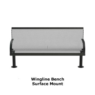 4' and 6' Wingline Style Bench - Portable, Surface and Inground Mount - Image 4