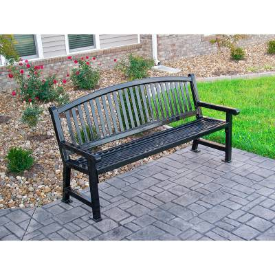 4' and 6' Savannah Bench - Portable/Surface Mount - Image 2