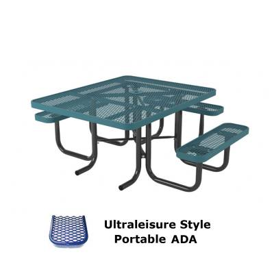 "Picnic Tables - ADA Accessible - 46"" x 57"" UltraLeisure Picnic Table, ADA - Portable, Quick Ship"