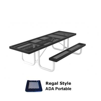 Picnic Tables - ADA Accessible - 6' and 8' Regal Picnic Table, ADA - Portable