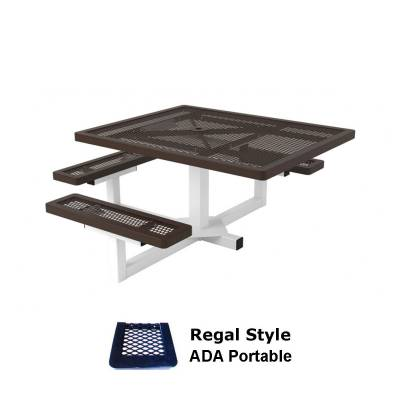 "Picnic Tables - ADA Accessible - 46"" x 57"" Regal Pedestal Picnic Table, ADA - Portable"
