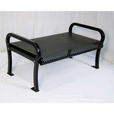 Park Benches - 4' and 6' Lexington Backless Bench - Portable/Surface Mount.