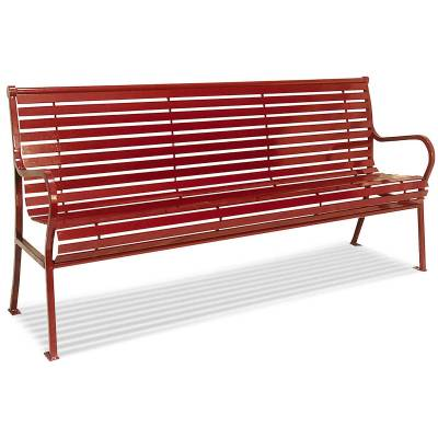 Park Benches - Thermoplastic Coated - 4' and 6' Hamilton Bench - Portable/Surface Mount.