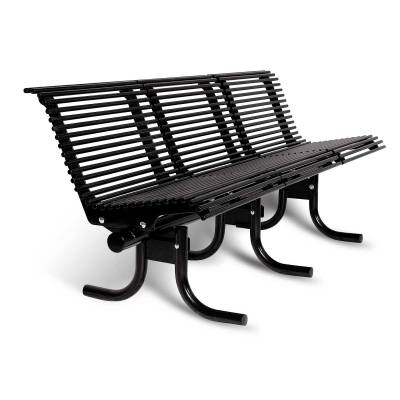 Park Benches - Coated Metal - 4', 6' and 8' Palmetto Bench - Portable