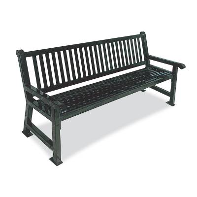 Park Benches - Thermoplastic Coated - 4' and 6' Savannah Bench - Portable/Surface Mount