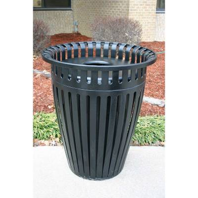 Trash Disposal - Outdoor Trash Receptacles - 32 Gallon Crown Trash Receptacle with Flared Top