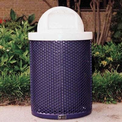 Trash Disposal - Outdoor Trash Receptacles - 32 Gallon Perforated Trash Receptacle