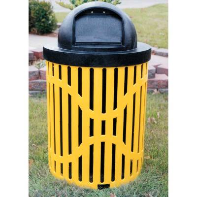 Trash Disposal - Outdoor Trash Receptacles - 32 Gallon Classic Trash Receptacle